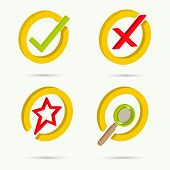 stock photo of confirmation  - Isometric icons - JPG