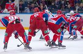 ������, ������: Cska Team On Faceoff