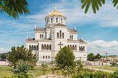 stock photo of sevastopol  - Vladimir Cathedral in Tauric Chersonesos Sevastopol city Crimea - JPG
