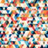 picture of octagon shape  - retro triangle seamless pattern  - JPG