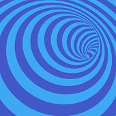 pic of twist  - Vector Illustration of Abstract Twisted Bluish Striped Tunnel - JPG