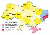 image of crimea  - Ukraine map 2014 - JPG