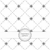 foto of diagonal lines  - Vector seamless pattern with vintage old banner and ribbon - JPG