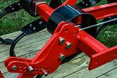 picture of cultivator-harrow  - Detail of industrial equipment used in agriculture - JPG