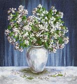 stock photo of jasmine  - Picture Oil Painting on a Canvas - JPG