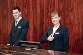 picture of receptionist  - Only best hotel service - JPG