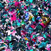 foto of psychedelic  - seamless psychedelic raster pattern - JPG