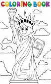 stock photo of statue liberty  - Coloring book Statue of Liberty theme 1  - JPG
