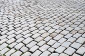 foto of paving stone  - street stones paving background  - JPG