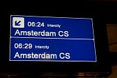 Sign For The Train To Amsterdam