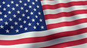 image of waving  - A 3D rendered still of a American flag - JPG