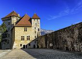foto of annecy  - Annecy castle by beautiful summer day - JPG