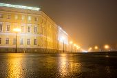 pic of winter palace  - The house on the square of the winter Palace night fog - JPG