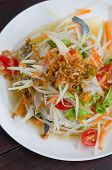 picture of green papaya salad  - spicy papaya salad with crab asian spicy food - JPG