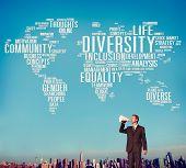 foto of population  - Diversity Community Population Business People Concept - JPG
