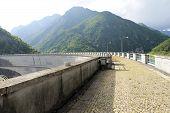 picture of dam  - Dam of Valvestino Valley - JPG