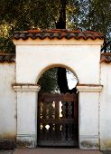 The Entrance Arch Of San Juan Bautista Mission