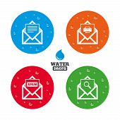 picture of spam  - Water drops on button - JPG