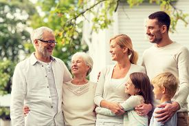 stock photo of in front  - family - JPG