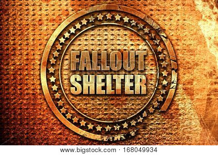 fallout shelter 3D rendering grunge