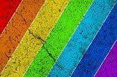 Rainbow colored vintage background