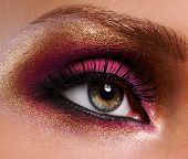 Golden-Pink Make-Up.