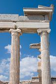 Temple Erechtheion of the architectural ensemble Acropolis. Athens