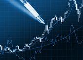 blue financial stat background