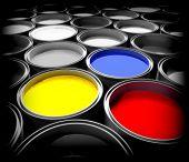 be unique and different color paint background