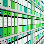fine image 3d of archive folder