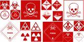 fine hazard danger vector red danger collection
