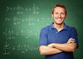 picture of teachers  - fine image of young caucasian teacher at school - JPG