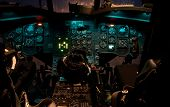 Chinook Helicopter Cockpit