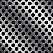 metal grid - vector seamless background