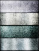 Banners set of metal texture