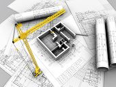 picture of erection  - 3D plan drawing - JPG
