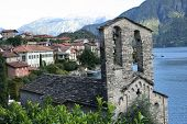 Church on lake Como in northern Italy