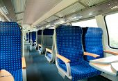 An interior view of a train