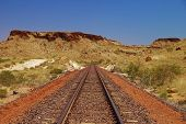 Railtrack In Australian Outback