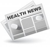 Health news. Vector illustration.