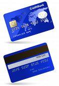 Ilustração em vetor altamente detalhadas de cartão de crédito