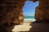 Idyllic Secret Beach In Rocks