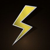 stock photo of lightning bolts  - Powerful lighting symbol on highly detailed background - JPG