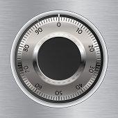 Combination Lock. Combination Safe Lock. Vector Illustration.