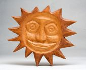 Wooden sun - Slavonic idol unauthorized art - folklore