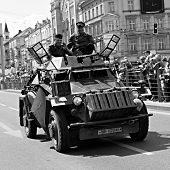 sdkfz 222 - German armored vehicle in Pilsen City Czech Republic Europe - Anniversary ends second wo
