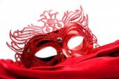 Decorated mask for masquerade on white background. Great for halloween brochures and advertisements.