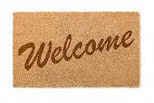 Welcome Mat Isolated On A White Background. poster