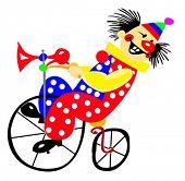 vector portrait of the clown
