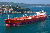 Oil Tanker entering Sydney Harbor
